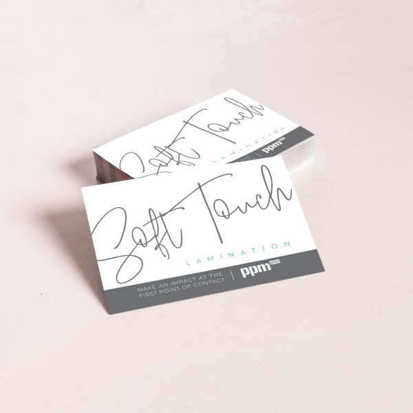 business cards soft touch