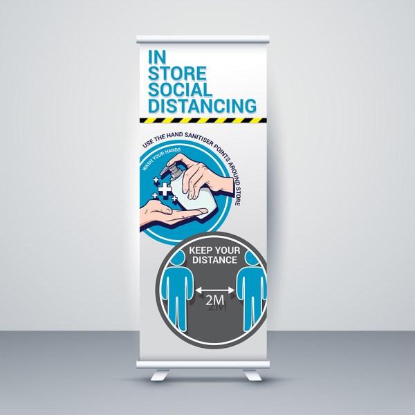 Social Distancing Standard Roller Banners