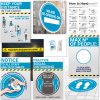 covid-secure printed kit for hair and beauty salon