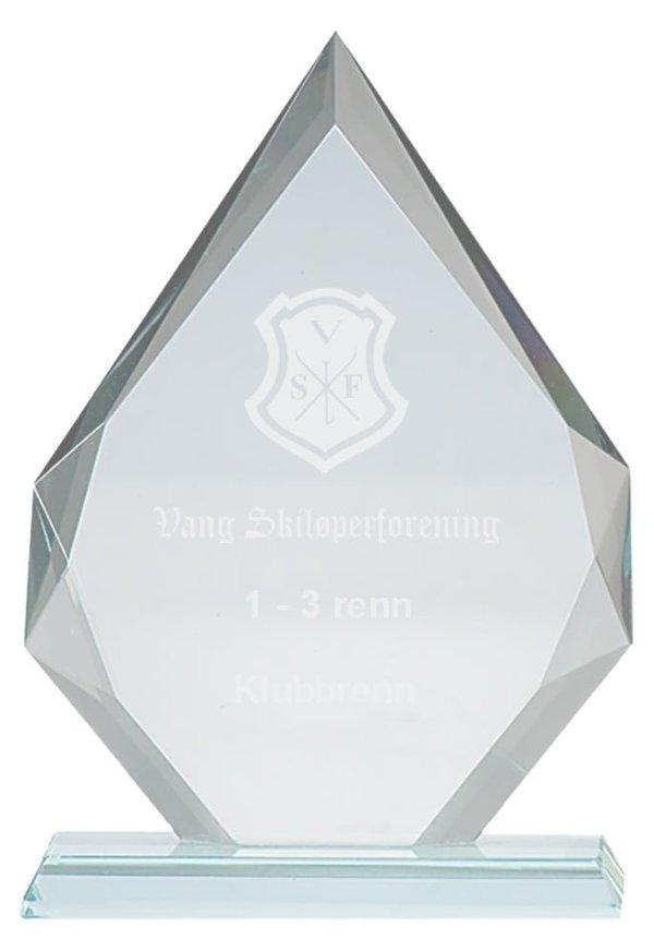 Plakett i krystall CR.1 1