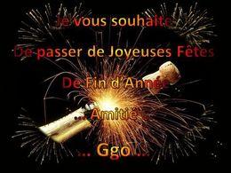 Je vous souhaite de passer de joyeuses fêtes de fin d'année 2011-2012