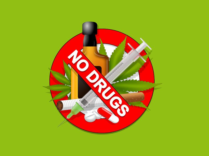 No Drugs Backgrounds For Powerpoint Templates PPT Backgrounds