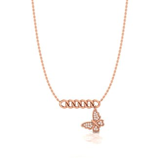 Butterfly Effect Necklace in Rose Gold