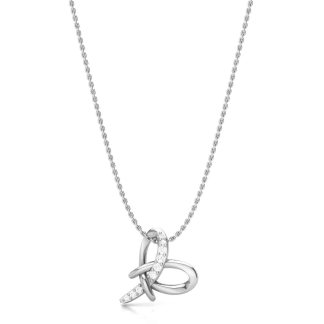 The Clustered Heart Necklace in Silver