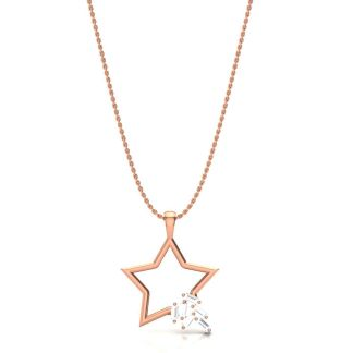Shooting Star Necklace In Rose