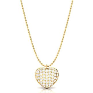 The Gold Heart Of Diamonds Necklace