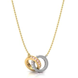 Tangled Ring Gold Necklace