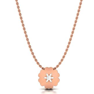 Magical Flower Necklace Rose Gold
