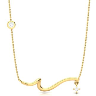 A Star In The End Necklace In Gold