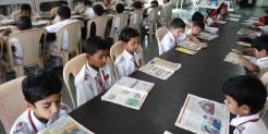 The library has numerous carefully selected titles, reference material for teachers and students, periodicals and a variety of books of various publications for the student of all the grades.