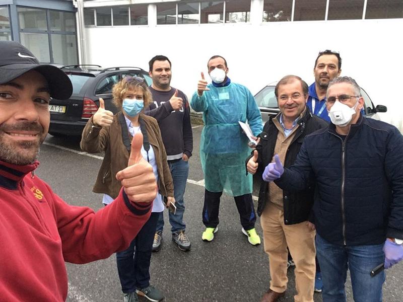 Covid-19: Casa do Benfica em Ovar doou equipamento de proteção individual ao Hospital de Ovar