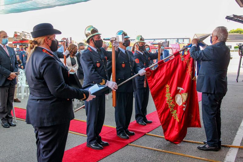 Eduardo Cabrita distinguiu os BV de Ovar com a Medalha de Mérito de Proteção e Socorro