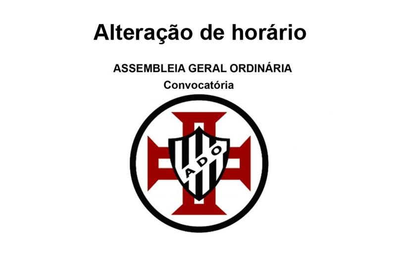 Alteração do horário da Assembleia Geral de sábado