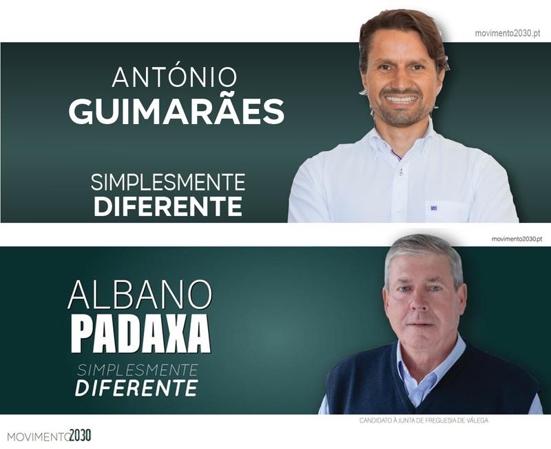 Movimento 2030: António Guimarães e Albano Padaxa candidatos em Cortegaça e Válega