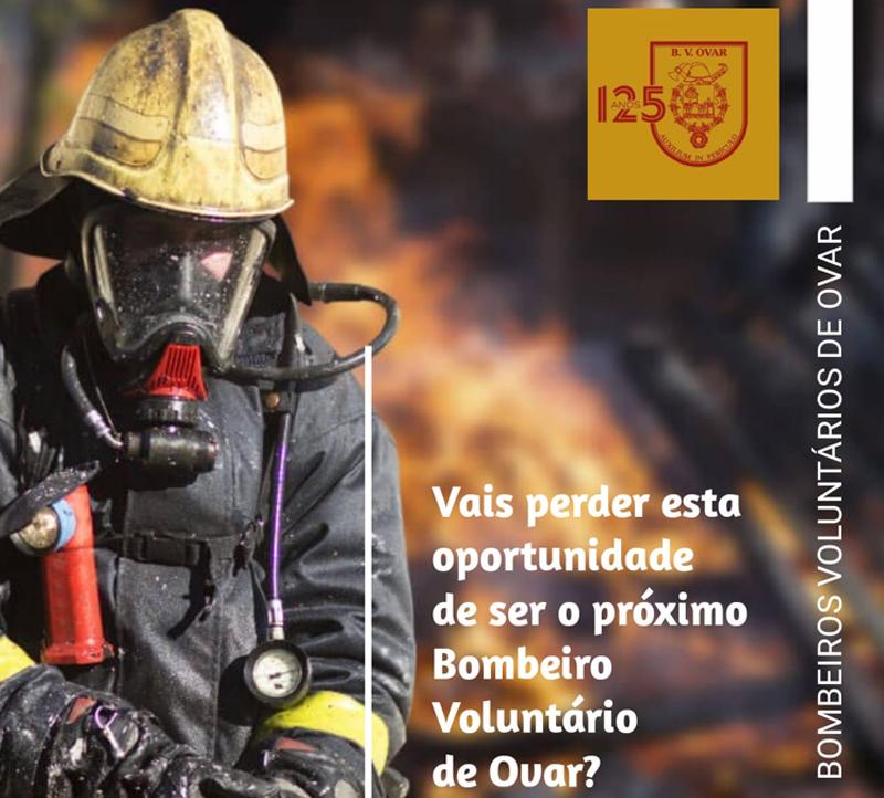 Bombeiros de Ovar estão a recrutar novos voluntários