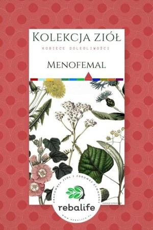 zioła na menopauzę menofemal etykiety, mieszanki ziołowe, rebalife Karta produktu Pracownia ziół i zdrowej żywności Rebalife-56
