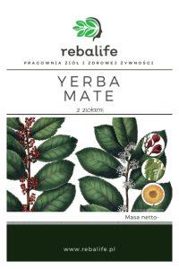 yerba mate z ziołami Karta produktu Pracownia ziół i zdrowej żywności Rebalife