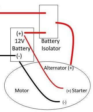 battery isolator boat wiring
