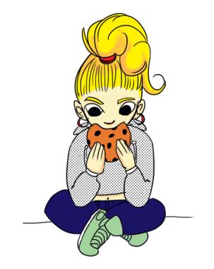 cartoon-girl-eating-cookie