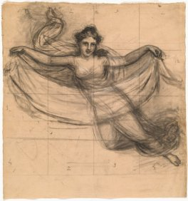 old drawing of a greek goddess - illustrating an article about the writers muse