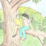 cartoon-two-girls-up-tree