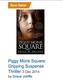 Book cover of Piggy Monk Square by Grace Jolliffe - illustrating an article on writing a best seller