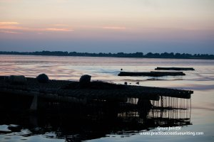 Oyster beds against a Galway sunset - illustrating an article called 'Are You Writing For Readers?'