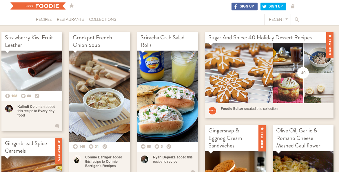 Foodie is a social network for food lovers.
