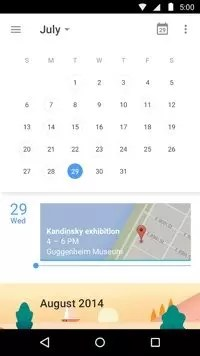 Google Calendar on Android.