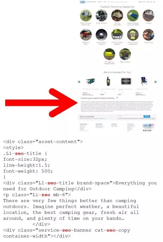 """Example of the word """"SEO"""" used in the code."""