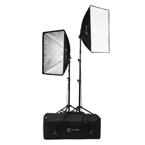 Photo du kit d'éclairage fluorescent continu CLAR Adorama