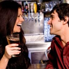 meeting a woman at a bar