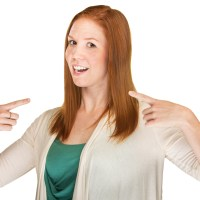 overconfident woman