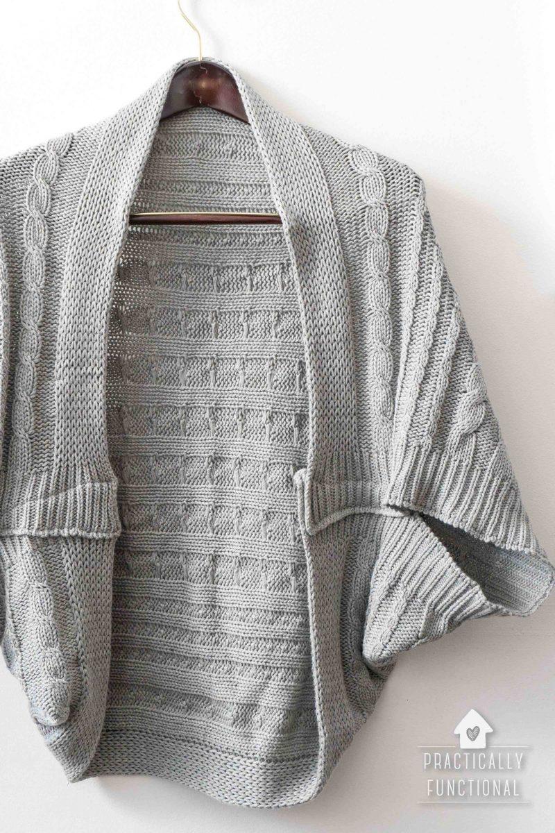 Turn A Blanket Into A DIY Cocoon Cardigan
