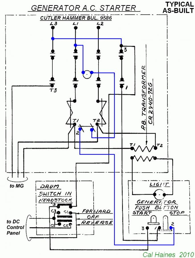 208455d1506034435 10ee mg starter circuit cutler hammer contactor revised 10ee start circuit c h typical v2 4b ge lighting contactor wiring diagrams dolgular com ge rr7 wiring diagram at gsmportal.co
