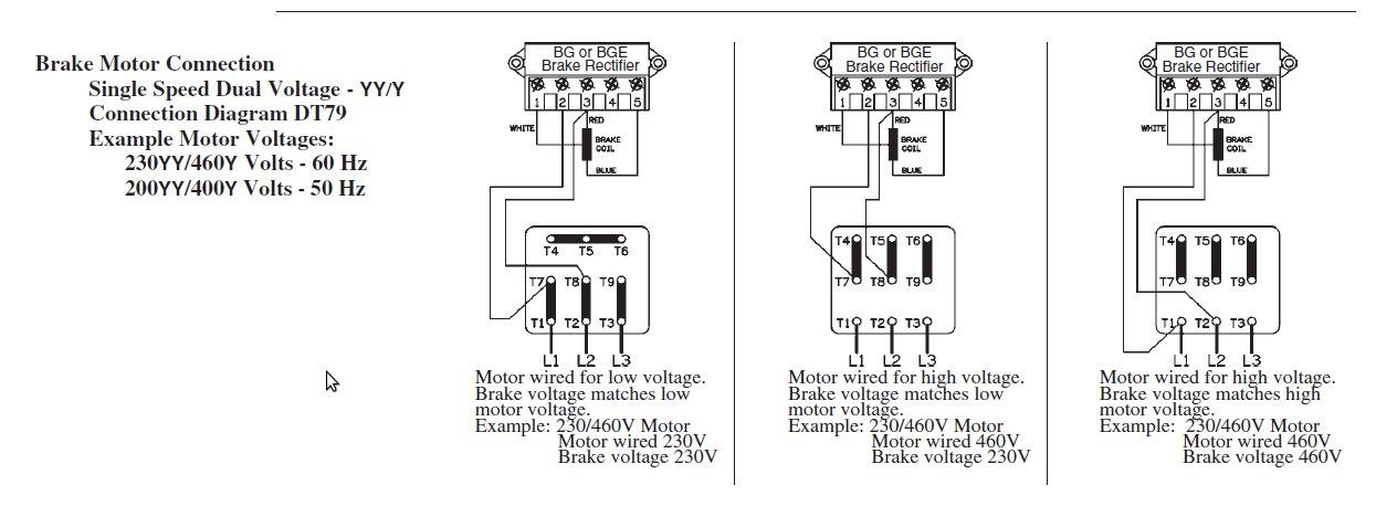 3 Phase Motor Wiring Diagram Brake Motor Wiring