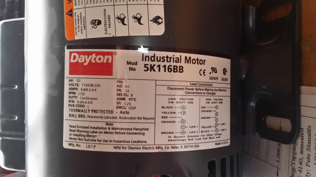 New Dayton Motor Wiring