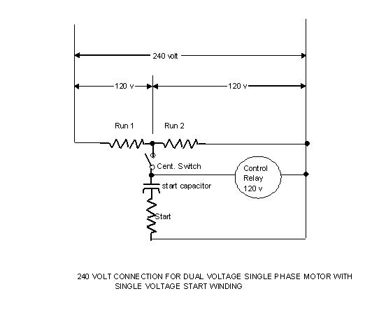 Baldor 2 hp 3 phase motor wiring diagram for Convert 3 phase motor to single phase with capacitors