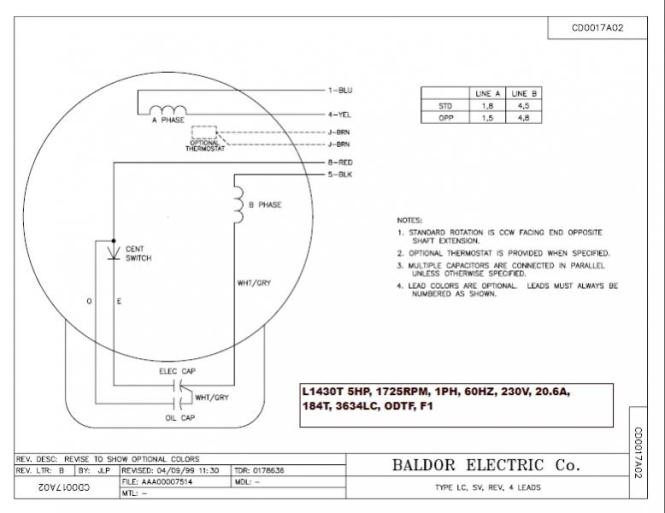 baldor motor wiring diagrams single phase wiring diagram baldor single phase motor wiring diagram auto