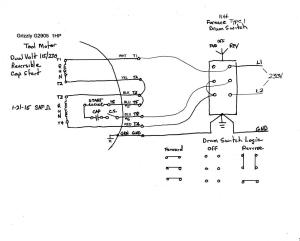 Wiring help needed for a 1phase 220v reversing puzzle