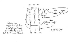Help with a Ghisalba 3 phase motor starter to do a