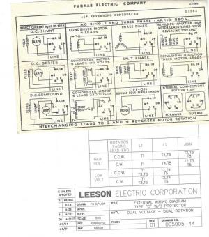 Please I need help wiring Leeson motor to Furnas switch