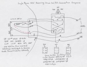 Help with wiring a Drum Switch for 220v Motor