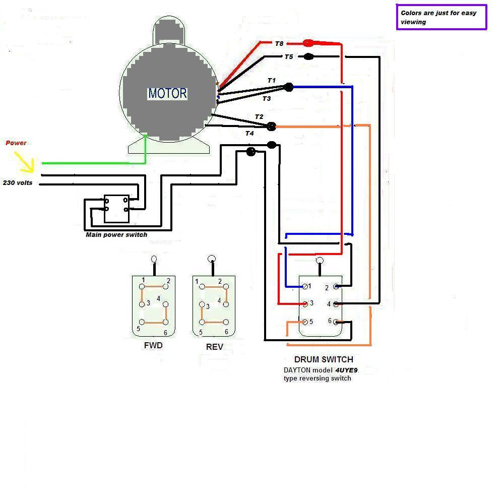 single phase motor wiring diagram forward reverse wiring reversing switch ac motor wiring reversing switch dc motor