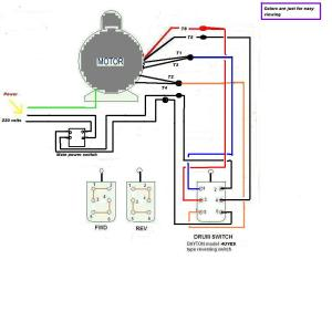 220v single phase wiring forwardreverse switch