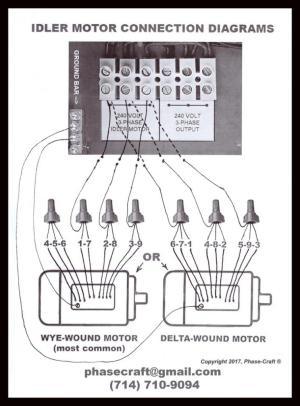 Static Phase Converter used to start an Idler Motor