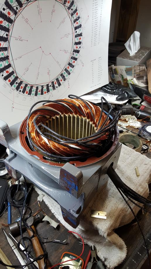Vintage 3 Phase Motor Rebuild