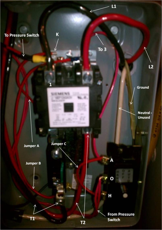 Furnas magnetic starter wiring for phase 3 3 phase motor Furnas motor starter