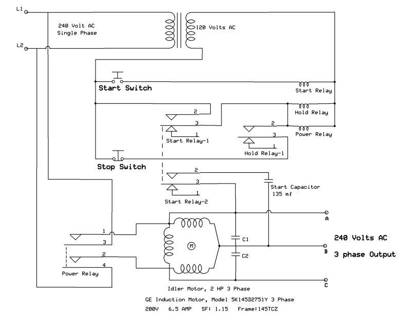 Wiring Diagram 110v Transformer : Static phase converter wiring diagram v or