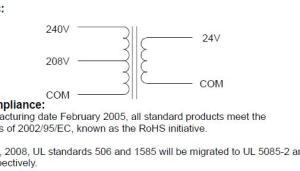 need help wiring 240v > 24v transformer for RPC start